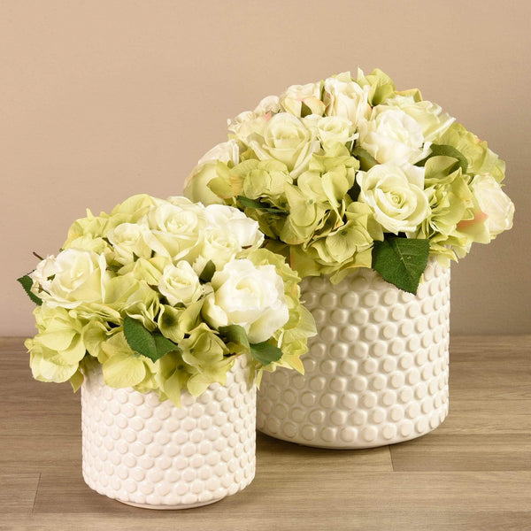 Hydrangea & Rose Arrangement Bloomr Artificial Flowers & Artificial Trees