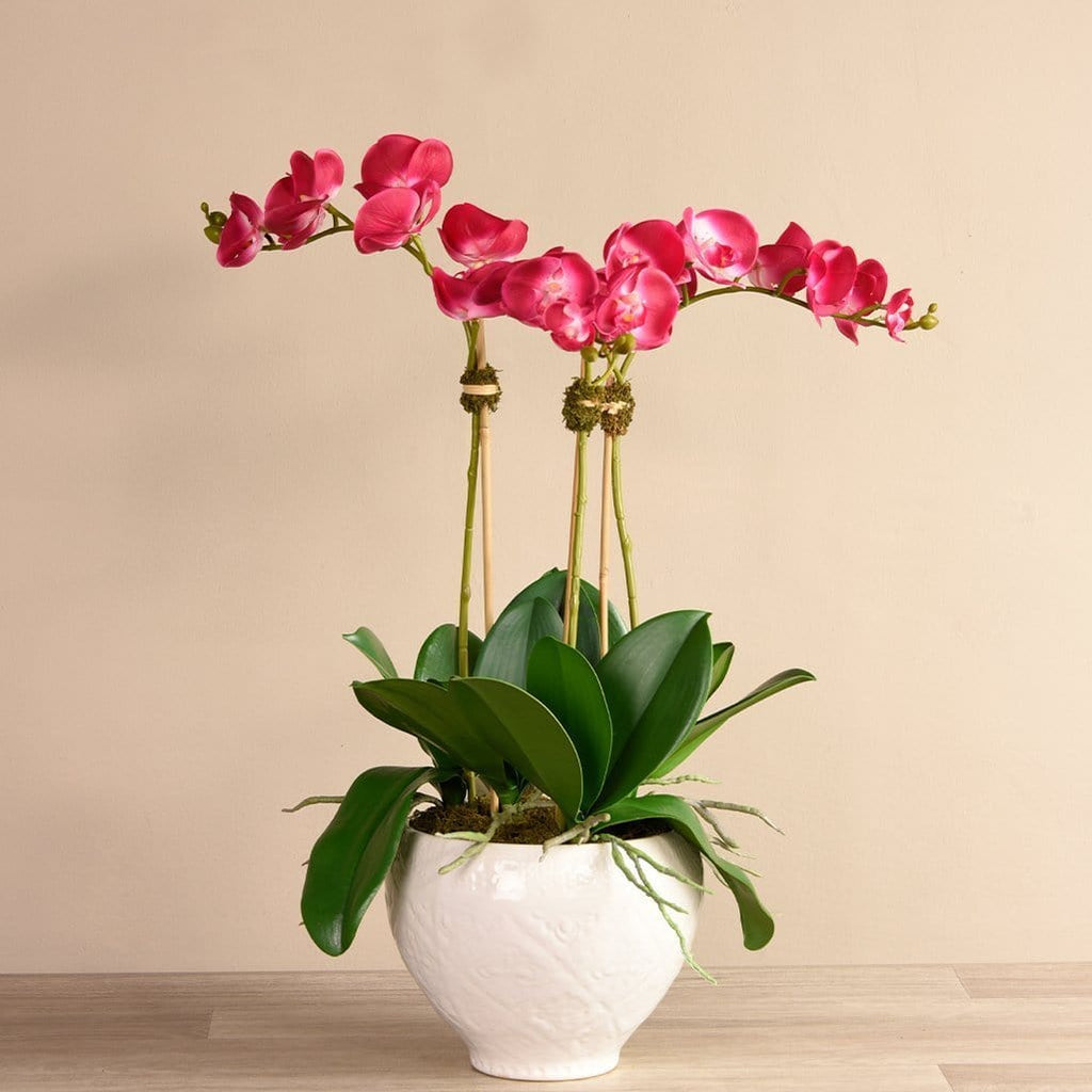 Moroccan Orchid Arrangement Bloomr Artificial Flowers & Artificial Trees