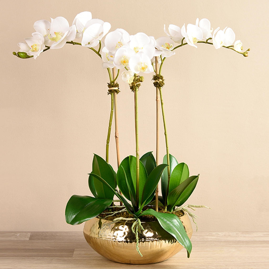 Shining Artificial Orchid Arrangement Bloomr Artificial Flowers & Artificial Trees
