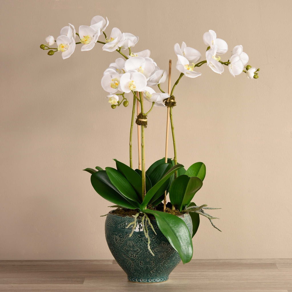 Moroccan Artificial Orchid Arrangement Bloomr Artificial Flowers & Artificial Trees