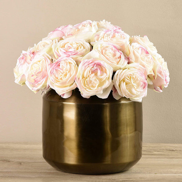 Artificial Rose Arrangement in Copper Vase - Bloomr