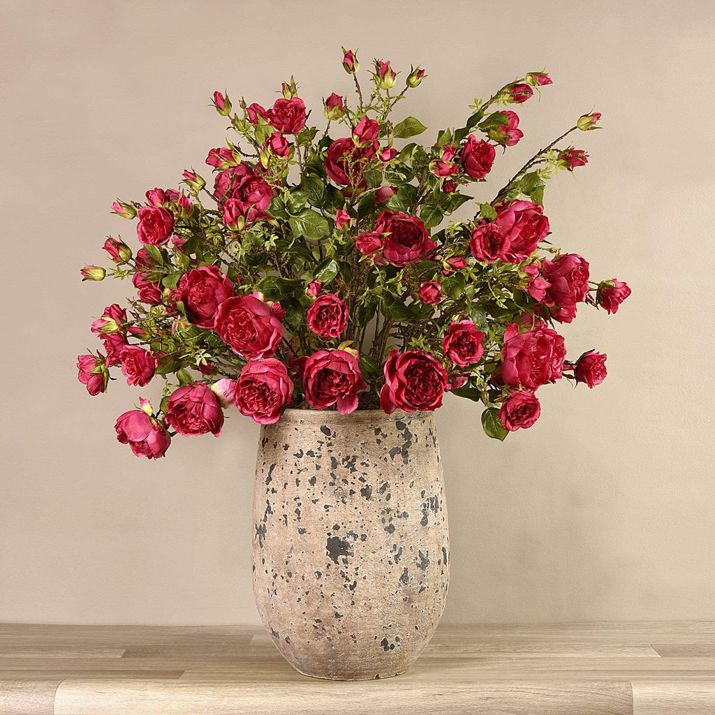 Potted Rose Arrangement Bloomr Artificial Flowers & Artificial Trees