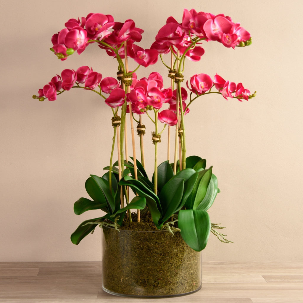 Earthy Artificial Orchid Arrangement Bloomr Artificial Flowers & Artificial Trees