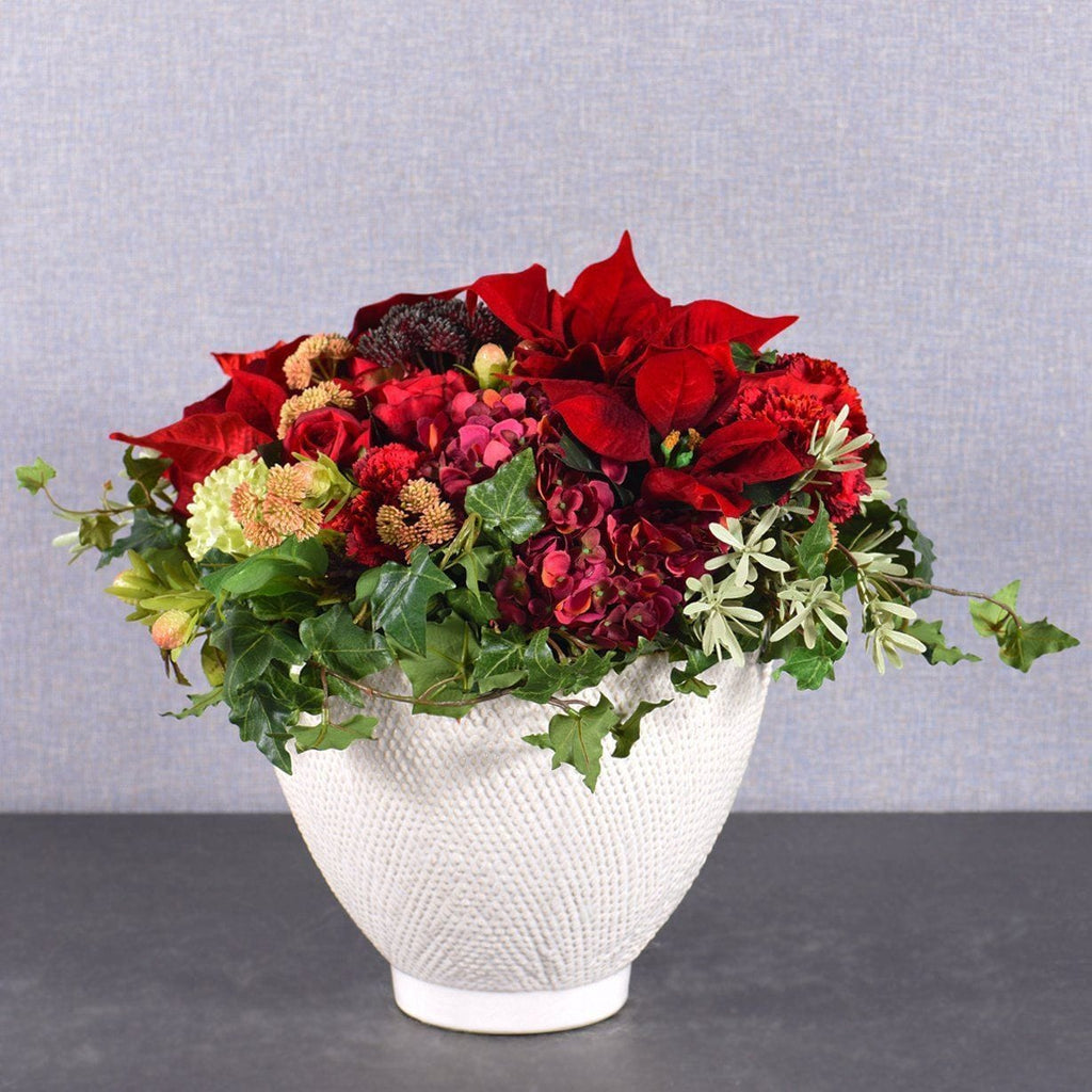 Red Christmas Bouquet Bloomr Artificial Flowers & Artificial Trees
