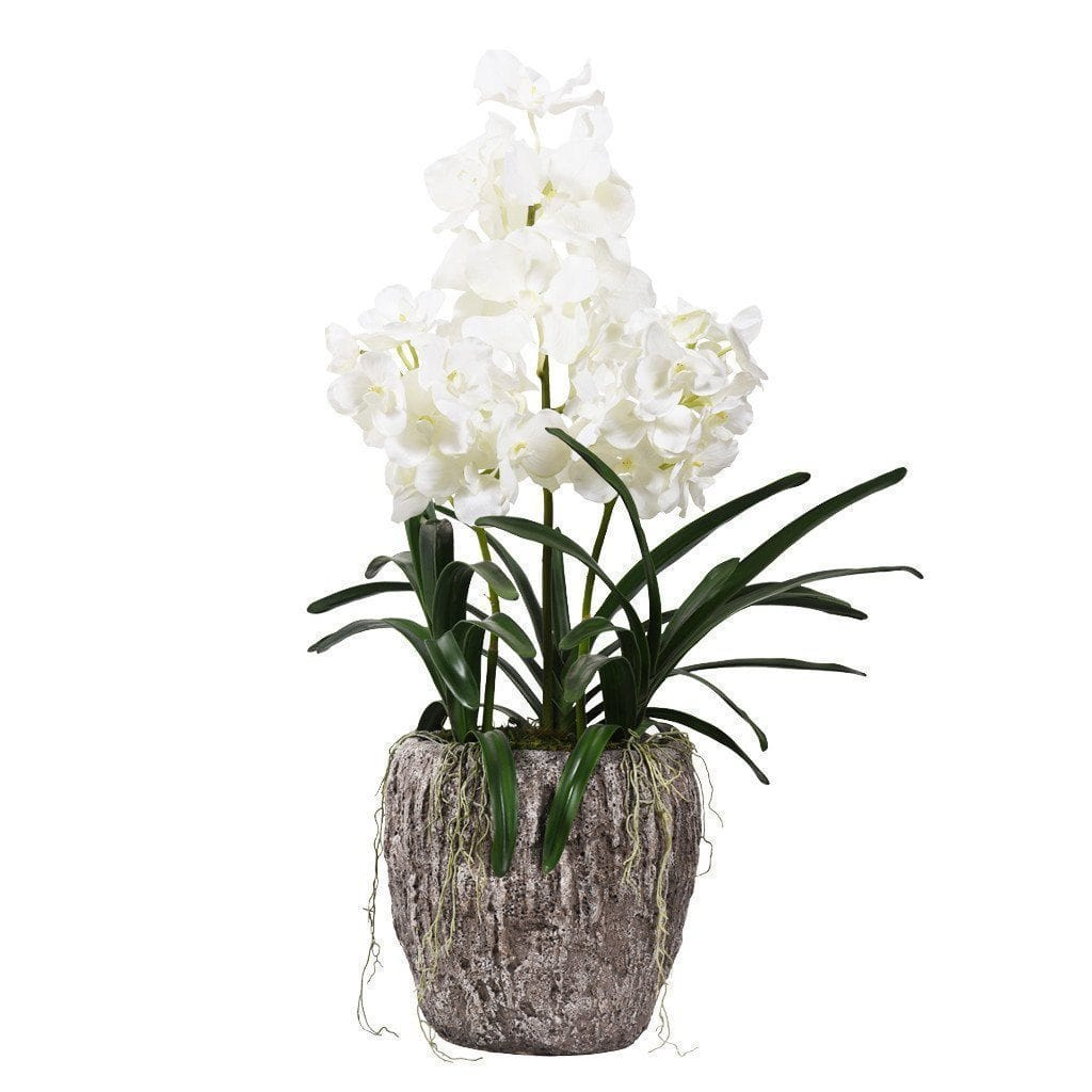 Earthy Vanda Orchid Arrangement Bloomr Artificial Flowers & Artificial Trees