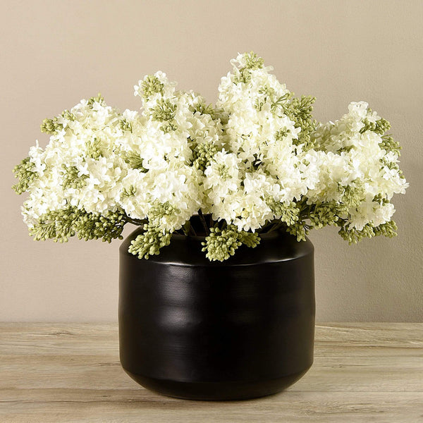 Artificial Hybrid Arrangement in Black Vase Bloomr Artificial Flowers & Artificial Trees