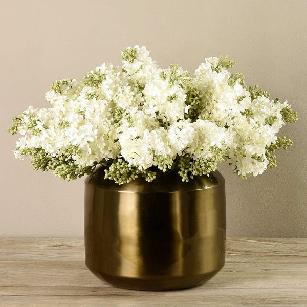 Artificial Hybrid Arrangement in Copper Vase Bloomr Artificial Flowers & Artificial Trees