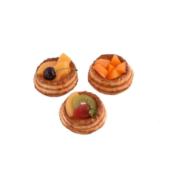3 pieces of petit choux with different toppings