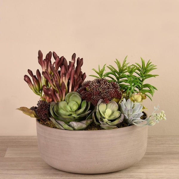 Desert Dunes Succulent Arrangement Bloomr Artificial Flowers & Artificial Trees