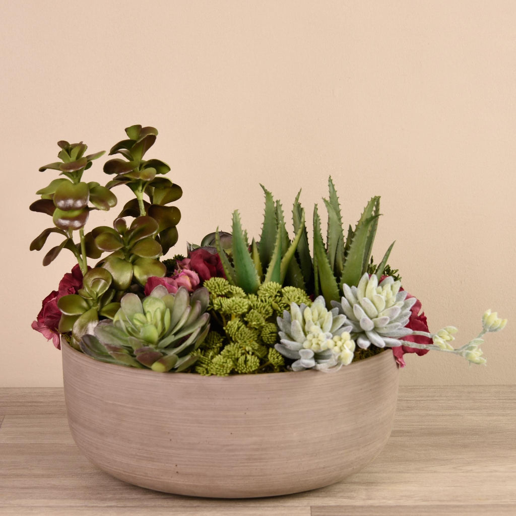 Hot Springs Succulent Arrangement Bloomr Artificial Flowers & Artificial Trees