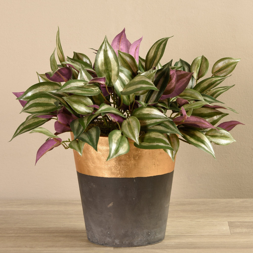 Potted Vanilla Leaf Plant Bloomr Artificial Flowers & Artificial Trees