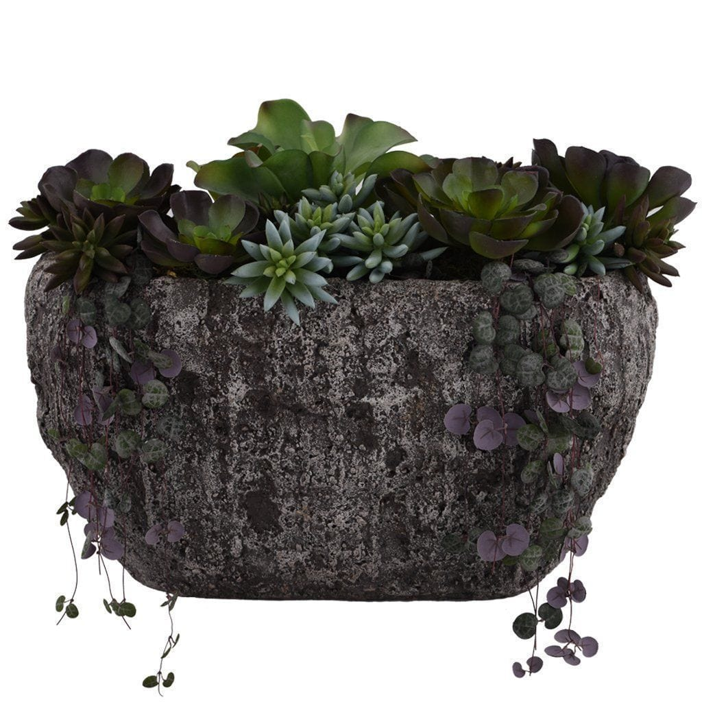 Earthy Succulent Arrangement Bloomr Home Artificial Flowers and Trees