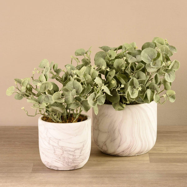 Potted Silver Fall Bloomr Artificial Flowers & Artificial Trees