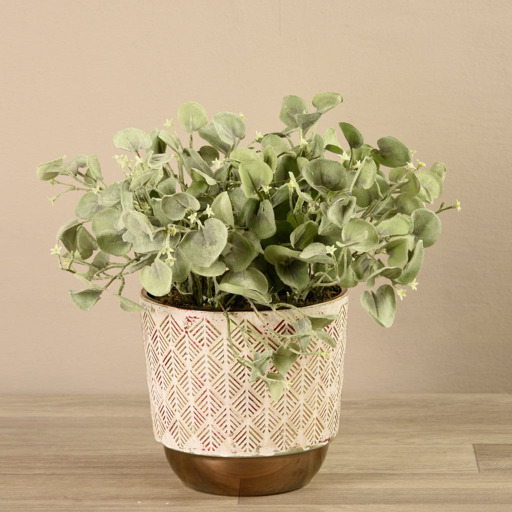 Potted Silver Fall Plant Bloomr Artificial Flowers & Artificial Trees