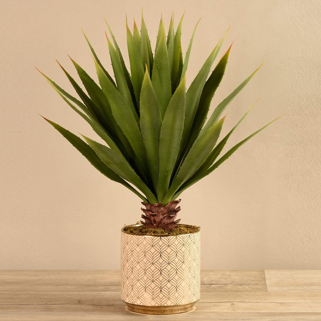 Artificial Potted Agave Bloomr Artificial Flowers & Artificial Trees