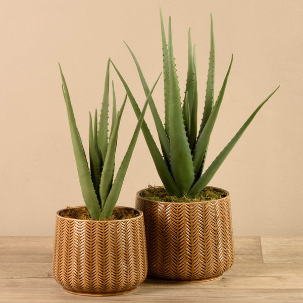 Artificial Potted Aloe Bloomr Artificial Flowers & Artificial Trees