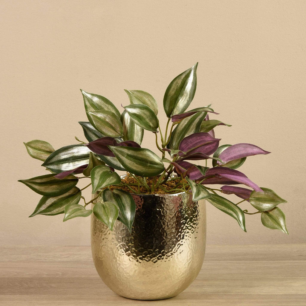 Artificial Potted Dark Vanilla Leaf Plant Bloomr Artificial Flowers & Artificial Trees