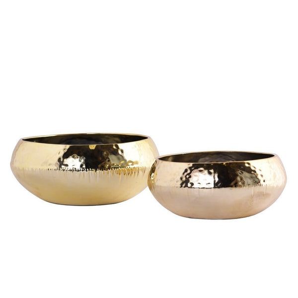 Round Ceramic Gold Pot