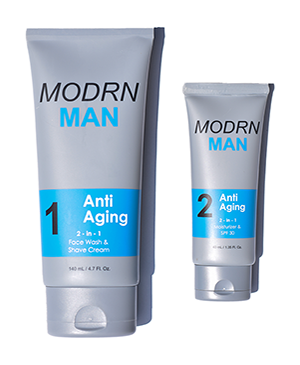 Mens Face Wash and Shave Cream for anti-aging by MODRN MAN