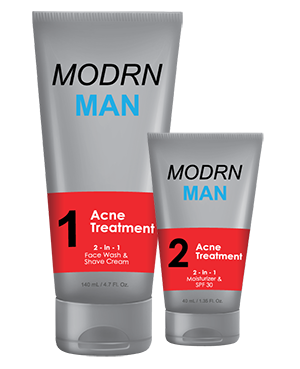 Mens Face Wash and Shave Cream for acne by MODRN MAN