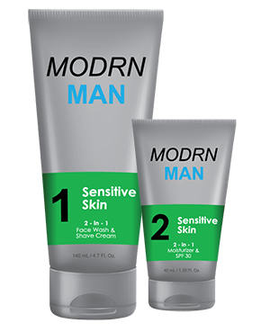 Mens Face Wash and Shave Cream for sensitive skin by MODRN MAN