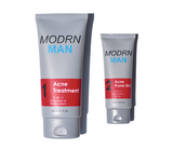 Mens acne system that includes a face wash, shave cream, and SPF 30 moisturizer lotion.