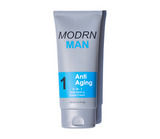 Mens anti aging face wash and shave cream for softer skin to reduce wrinkles and signs of aging.