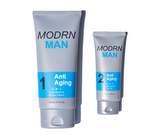 Mens 2 step anti again system to help soften skin and remove wrinkles.