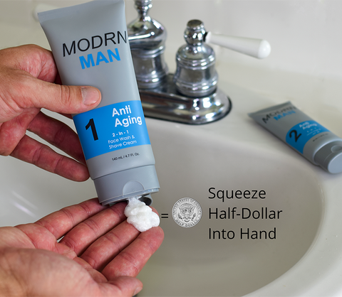 Anti-Aging: Step 1 - Face Wash & Shave Cream