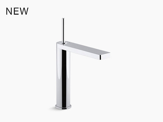 Kohler Composed® Tall single-handle bathroom sink faucet with joystick handle - Briddick Tile + Stone