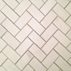 "1""x2"" Herringbone Honed Alpine Marble Collection - Briddick Tile + Stone"