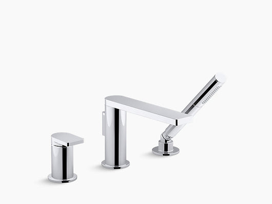 Kohler Composed® single-handle deck-mount bath faucet with handshower - Briddick Tile + Stone