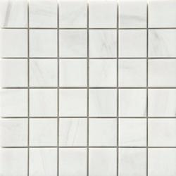 "2""x2"" Polished Alpine Marble Collection - Bianco Puro - Briddick Tile + Stone"