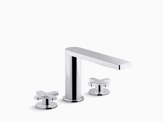 Kohler Composed® widespread bathroom sink faucet with cross handles - Briddick Tile + Stone