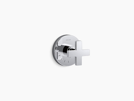 Kohler Composed® volume control valve trim with cross handle - Briddick Tile + Stone