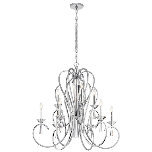 Kichler Ice™ 9 Light Chandelier Chrome - Briddick Tile + Stone