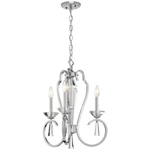 Kichler Optic Ice™ 3 Light Convertible Chandelier Chrome - Briddick Tile + Stone
