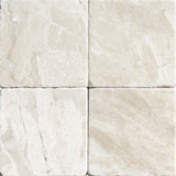 4X4 TUMBLED QUEEN BEIGE MARBLE TILE - Briddick Tile + Stone