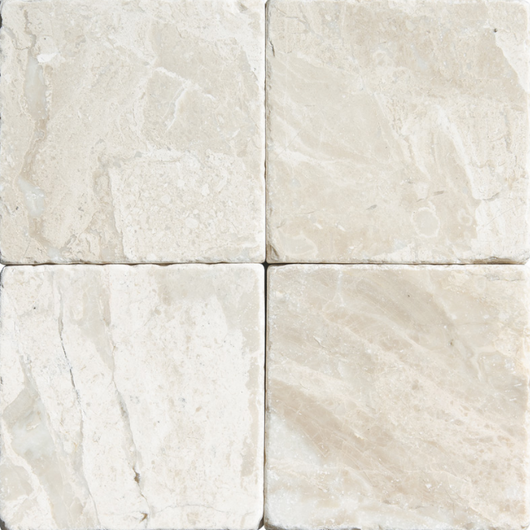 4X4 TUMBLED ROYAL QUEEN BEIGE MARBLE TILE - Briddick Tile + Stone