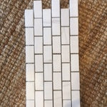 "1""x2 brick mosaic"" Honed Alpine Marble Collection - Bianco Puro - Briddick Tile + Stone"