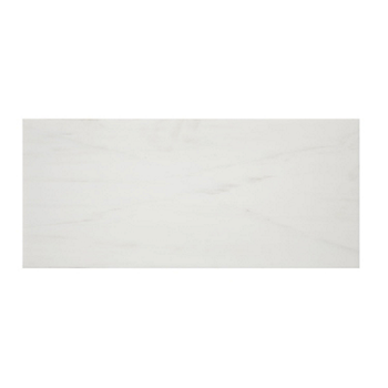 "9""x18"" Polished Alpine Marble Collection - Bianco Puro - Briddick Tile + Stone"