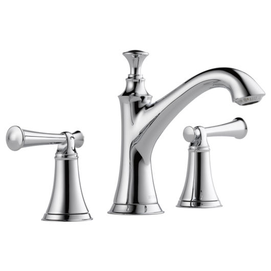 Brizo Baliza Widespread Faucet in Chrome w/Lever Handles - Briddick Tile + Stone