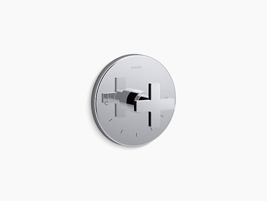 Kohler Composed® thermostatic valve trim with cross handle K-T73133-3 - Briddick Tile + Stone