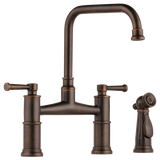 BRIZO ARTESSO® BRIDGE FAUCET WITH SIDE SPRAYER 62525LF - Briddick Tile + Stone