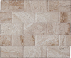 3X6 BEVELED QUEEN BEIGE MARBLE TILE - Briddick Tile + Stone