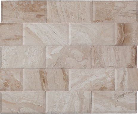3X6 BEVELED ROYAL QUEEN BEIGE POLISHED MARBLE TILE - Briddick Tile + Stone