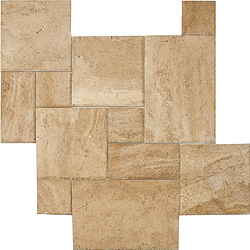 BROWN OAK CHISELED FRENCH PATTERN 8*8/8*16/16*16/16*24 - Briddick Tile + Stone