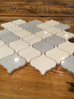 Arabesque Modello - Bianco Dolomiti Blue Celeste - CALL FOR PRICING - Briddick Tile + Stone