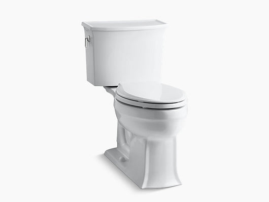Kohler Archer Comfort Height® two-piece elongated 1.28 gpf toilet  with AquaPiston®flushing technology - Briddick Tile + Stone