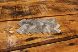 HERRINGBONE TURKISH GRAY POLISHED MARBLE TILE - Briddick Tile + Stone